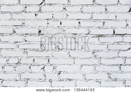 Old White Brick Wall Closeup Texture