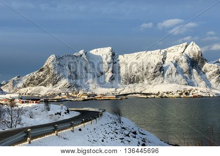 Hamnoy island in winter Reine Lofoten Islands North Norway