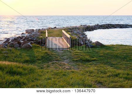 Sunrise at Pointe aux Barques, Lake Huron, Michigan, USA