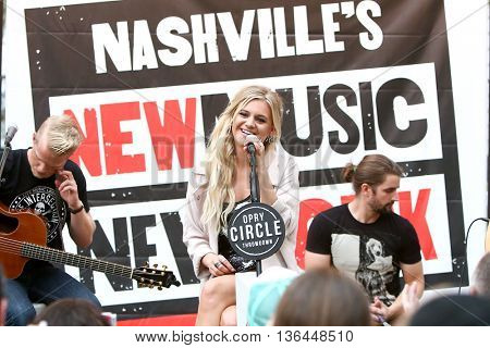 NEW YORK-SEP 9: Singer Kelsea Ballerini performs at Nashville's New Music in New York at the Southwest Porch at Bryant Park on September 9, 2015 in New York City.