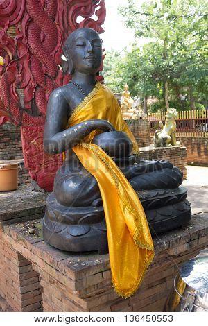 Buddha image was sitting in meditation form.
