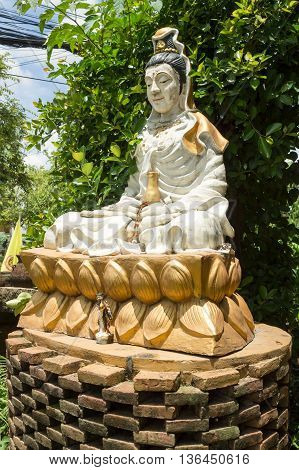 Buddha image was sitting under the tree represented in meditation form.