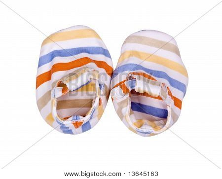 Striped Bootees For The Newborn