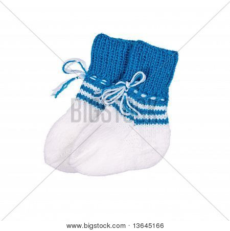 Turquoise Socks For The Newborn