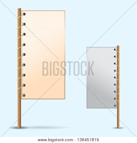 A set of frames with space for text or image