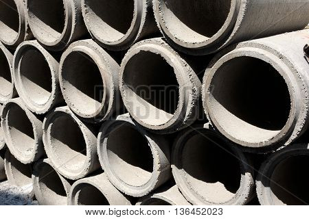 pattern of Cement Pipes in high contrast