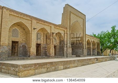 The medieval brick hazira in Chor-Bakr Necropolis the place of historic and religious interest Bukhara Uzbekistan.