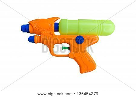 Water spray gun for playing and watering to each other in hot season isolate on white