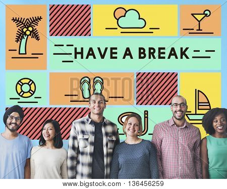 Break Cessation Leisure Pause Recess Relaxation Concept
