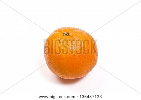 Ripe Orange Isolated On White.