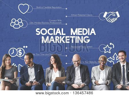 Social Media Marketing Commercial Business Concept