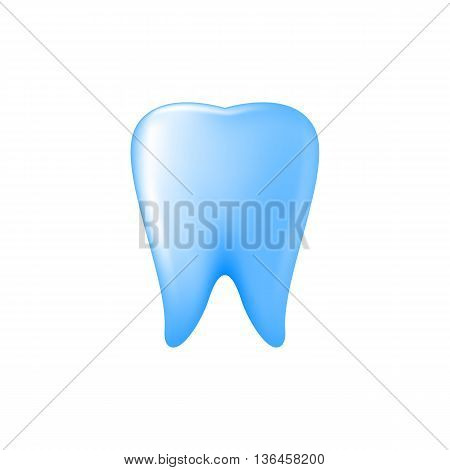 Blue Tooth Icon on White Background for Design