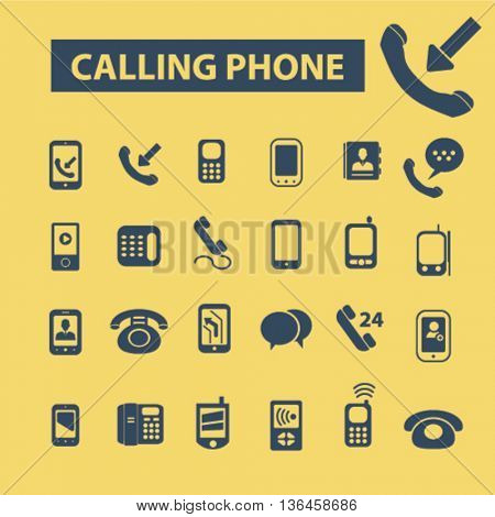 calling phone icons