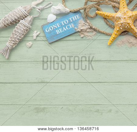 Summer Mockup Copyspace Wooden Sand Blank Concept