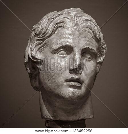 The ancient marble portrait bust