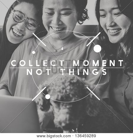 Collect Moment Enjoyment Explore Travel Lifestyle Concept