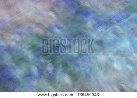 ICM shot of grass and flowers that looks like a nebula , to use as background or something cosmic