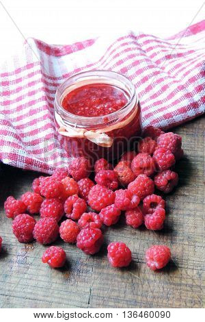 Jam With Raspberries