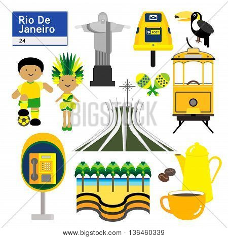 RiO DE JANEIRO BRAZIL Rio de janeiro capital city of Brazil is one of the most lively metropolis in the world. Small grey buddha image place in front of giant lying buddha at