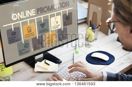 Online Promotion Advertisement Commercial Concept