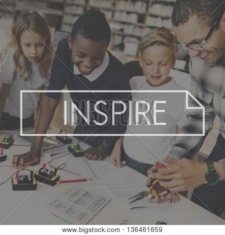 Inspire Inspiration Ideas Creativity Influencing Encourage Concept