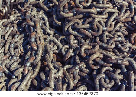 Pile Of Heavy Metal Chain
