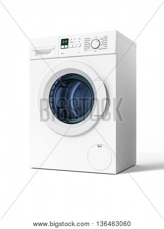 3d rendering of a typical isolated washing machine