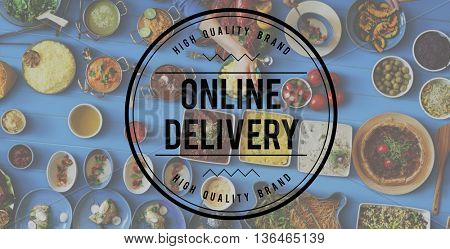 Online Delivery Food Connection Sharing Website Concept
