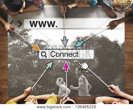 Connect Link Network Online Website Technology UI Concept