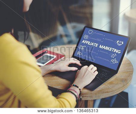 Social Marketing Internet Technology Business Concept