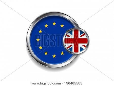 Brexit vector design. United Kingdom of Great Britain leaves from the European Union
