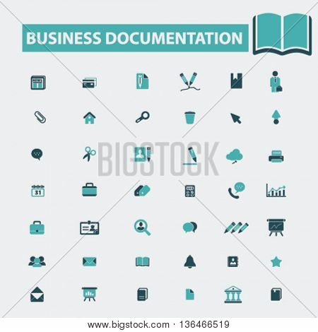 business documentation icons