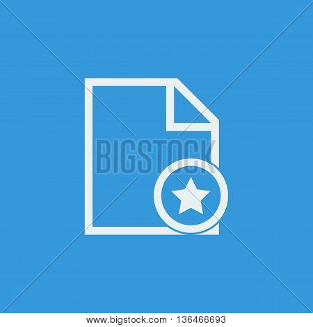 File Star Icon In Vector Format. Premium Quality File Star Symbol. Web Graphic File Star Sign On Blu