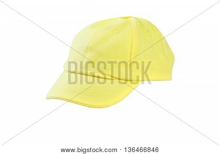 Cap yellow color isolated on white background
