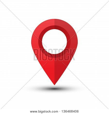 Map pointer isolated on a white background. Map marker. Flat style vector illustration