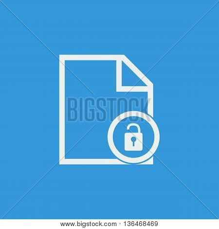 File Open Icon In Vector Format. Premium Quality File Open Symbol. Web Graphic File Open Sign On Blu