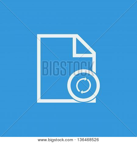 File Refresh Icon In Vector Format. Premium Quality File Refresh Symbol. Web Graphic File Refresh Si