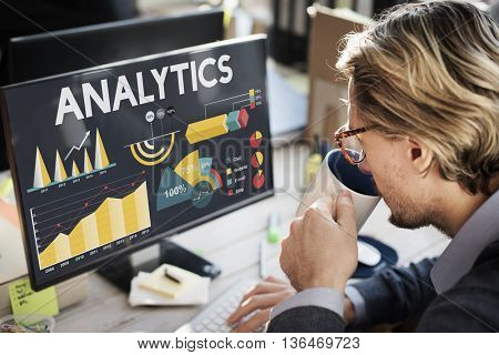Analytics Percentage Business Chart Concept