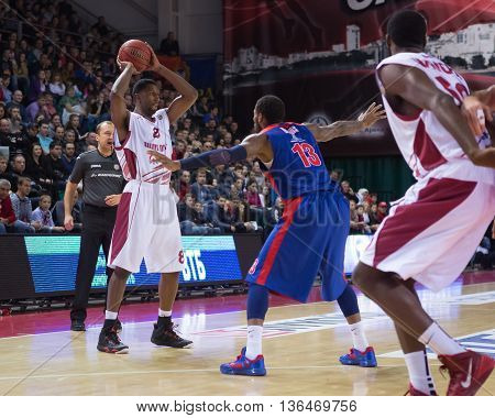 Bc Krasnye Krylia Forward Demetris Nichols (8) With Ball