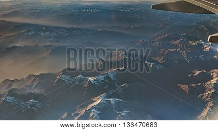 The Alps View In Austria From An Airplane