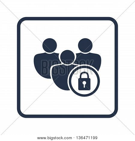 User Lock Icon In Vector Format. Premium Quality User Lock Symbol. Web Graphic User Lock Sign On Blu