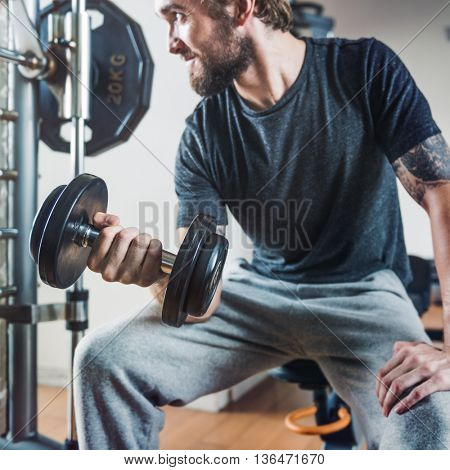 Weight Training Workout Exercise Fitness Concept