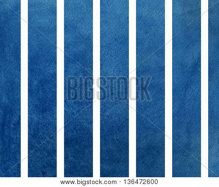 Watercolor Dark Blue Striped Background.