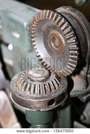 Detail Of A Mechanical Gear With Metal Teeth
