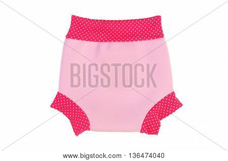 bathing trunks for little girls (babies) isolated on white background