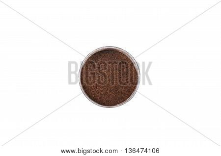 eyeshadow dark brown, isolated on white background