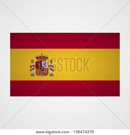 Spain flag on a gray background. Vector illustration