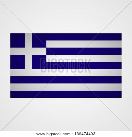 Greece flag on a gray background. Vector illustration