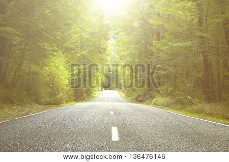 Road Asphait Destination Distance Travel Summer Concept
