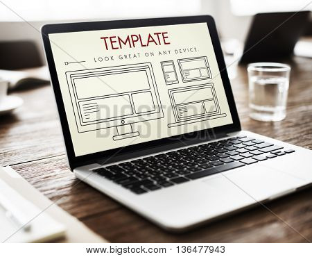 Template Layout Web UI Website Concept